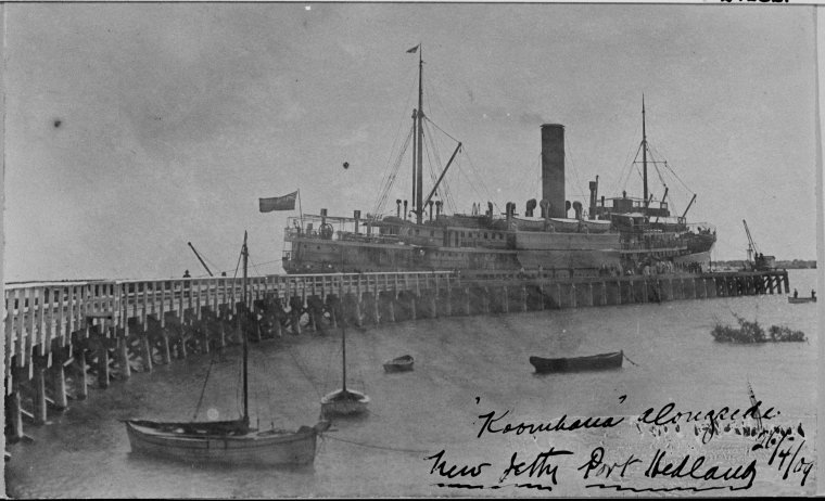 SS Koombana, Port Hedland jetty, 1909